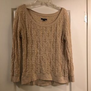 American Eagle Outfitters Pullover Top Lacy Small